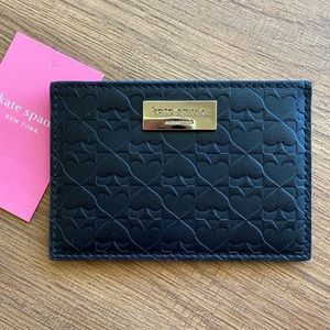 KSNY Penn Place Graham Black Leather Card Holder